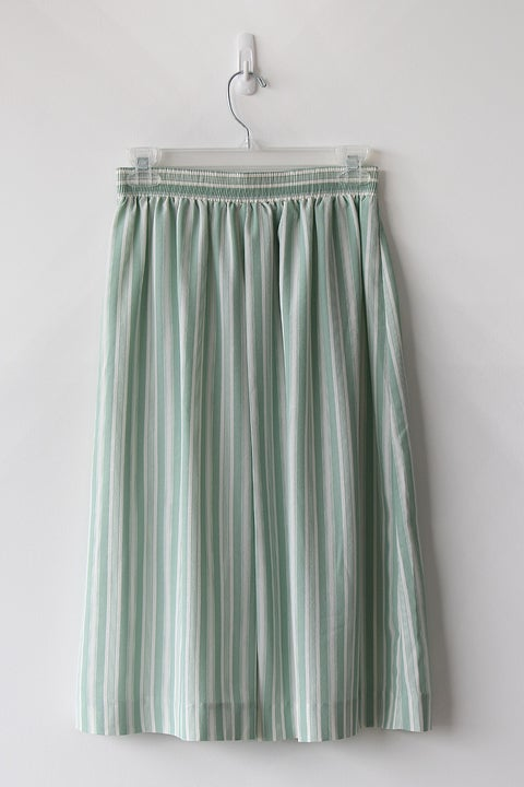 Image of SOLD Pistachio Striped Easy Skirt