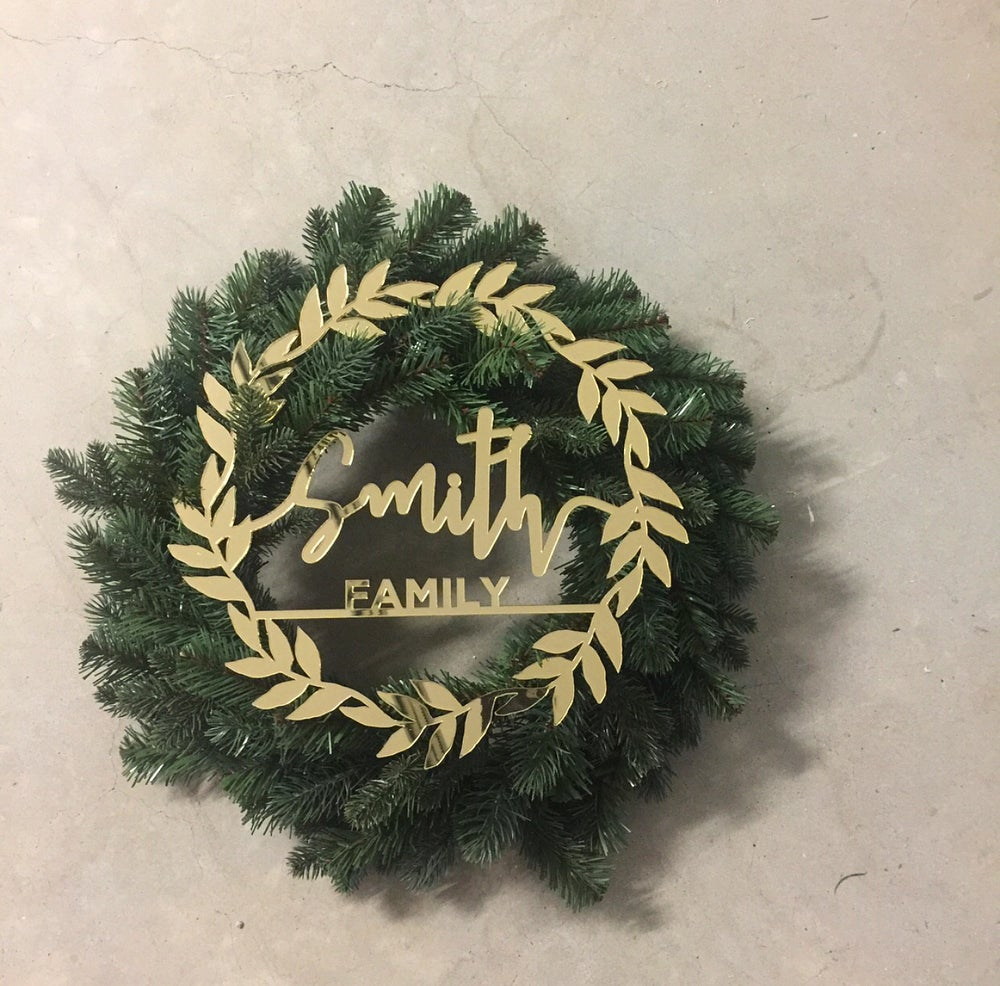 Image of Personalised Christmas wreaths