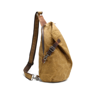 Image of canvas sling backpack canvas shoulder sling bag