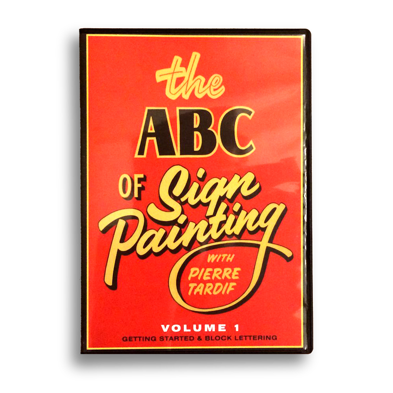 Image of DVD- ABC of Sign Painting Volume 1 - Pierre Tardif