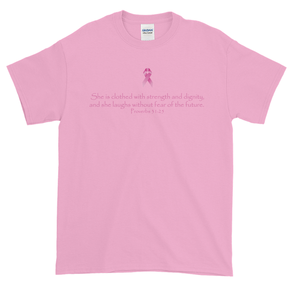 Image of Without Fear Breast Cancer Tee in Black or Pink