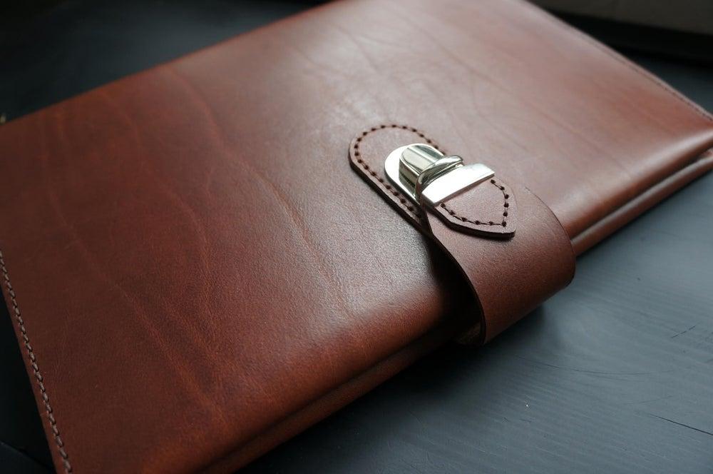 Image of iPad - A4 Leather Folio Case