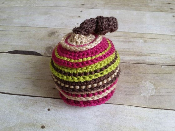Image of Taupe, Bone, Fuchsia and Chartreuse Knotty Beanie