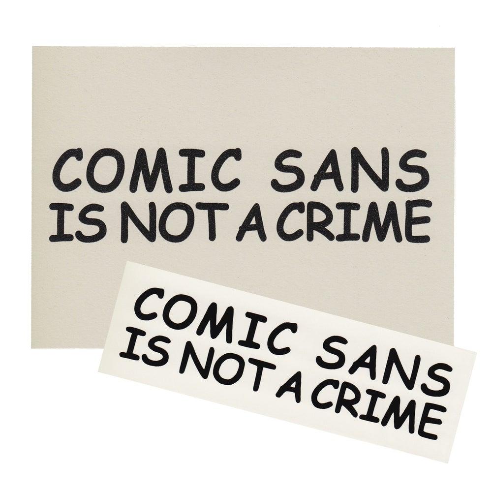 Image of Comic Sans Risograph Print + Sticker