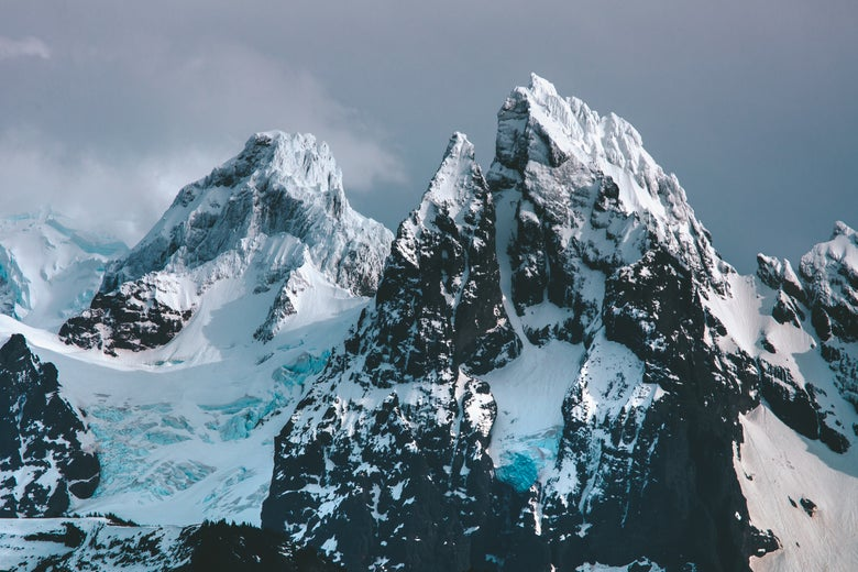 Image of Lincoln Peak and Mount Baker