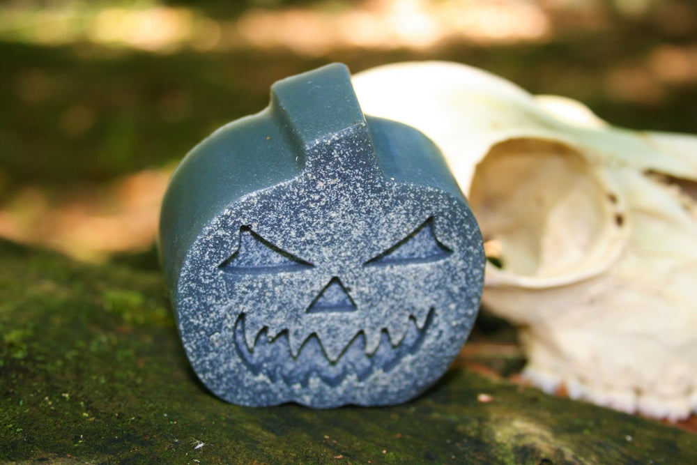 Image of JACK-O-LANTERN - 4oz. Charcoal Soap (All-Natural)