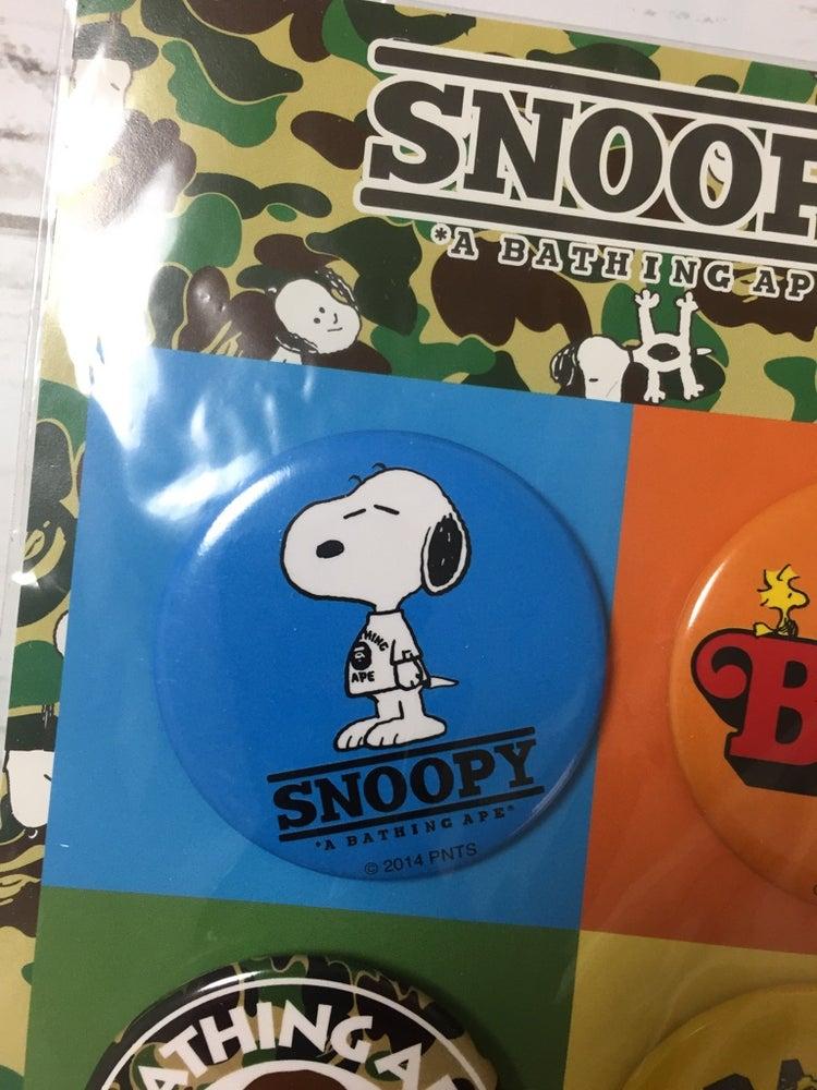 Image of Bape x Peanuts Snoopy Pin Set