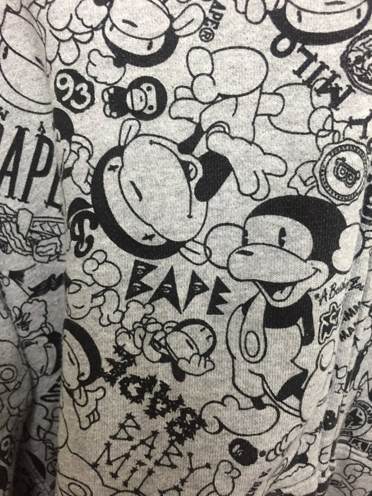 Image of Baby Milo All Over Comic Print Full-Zip Hoodie
