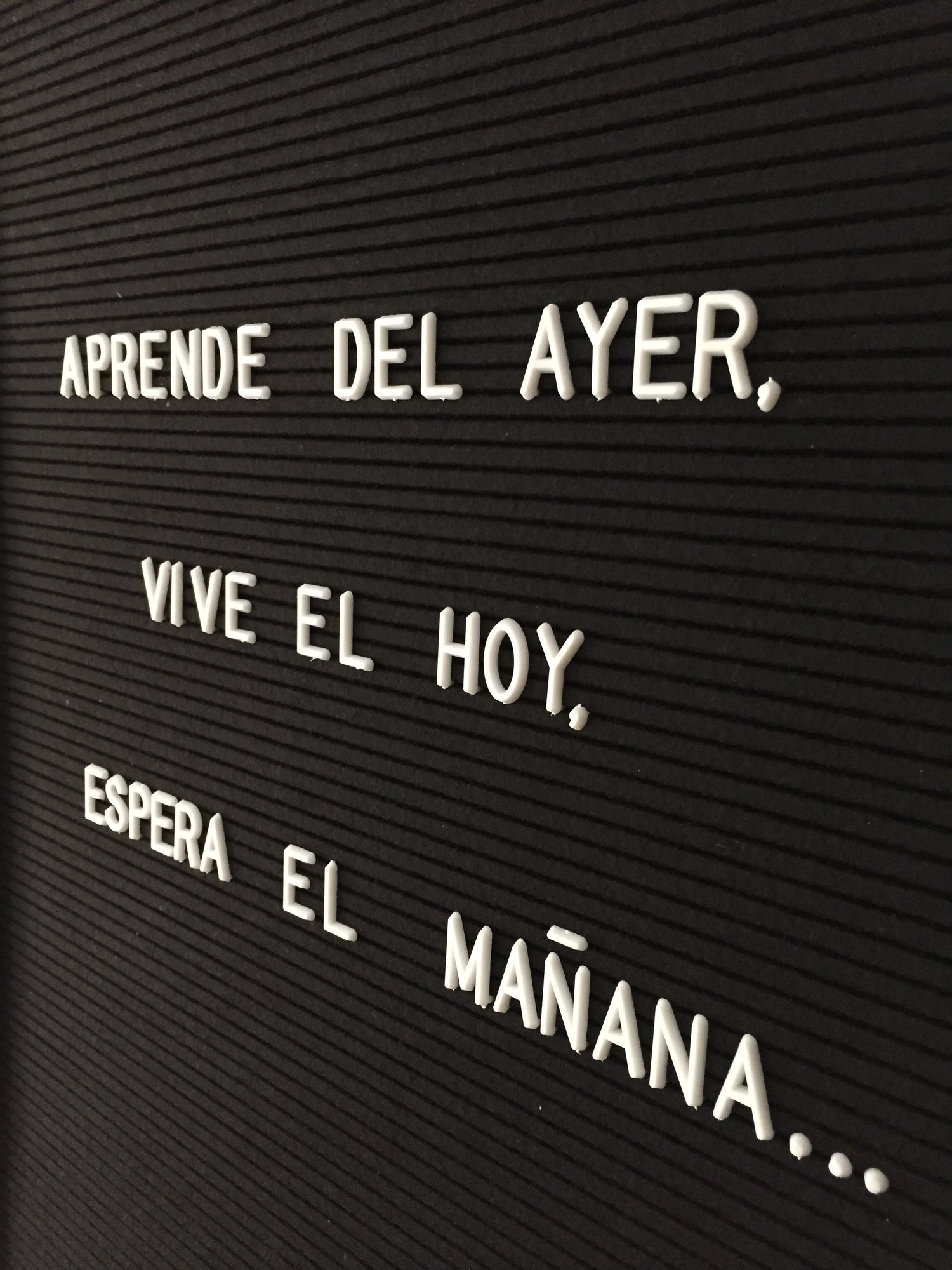 Image of Letterboard pequeña negra