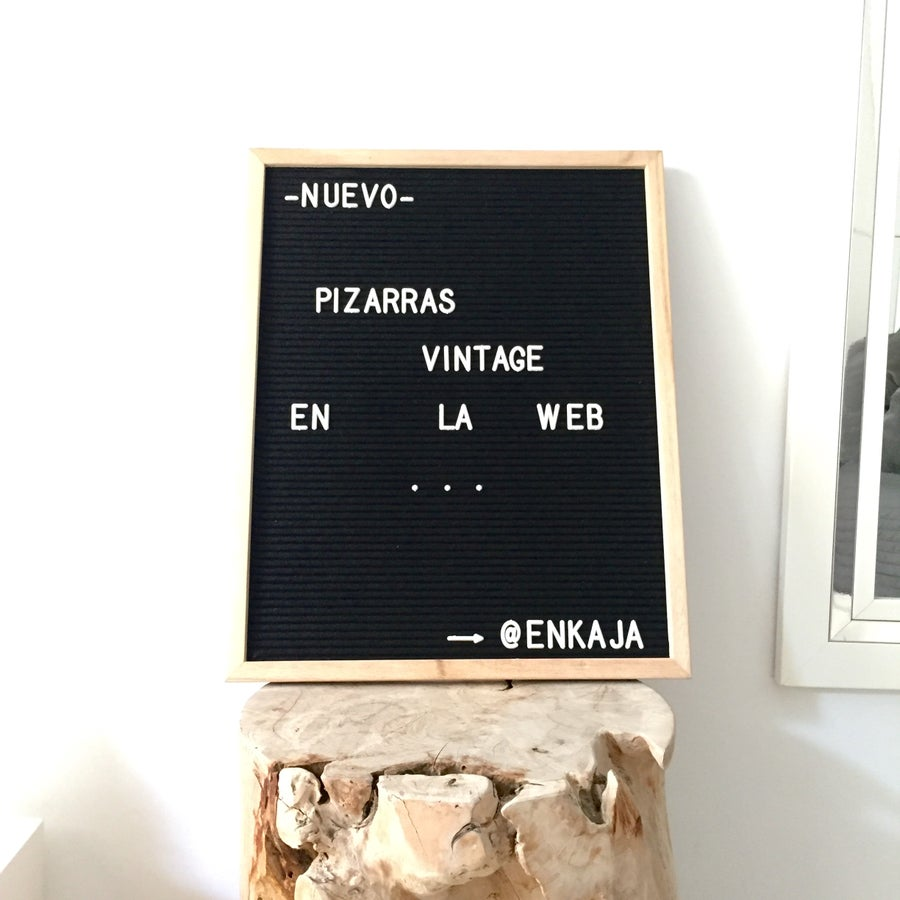 Image of Letterboard mediana negra