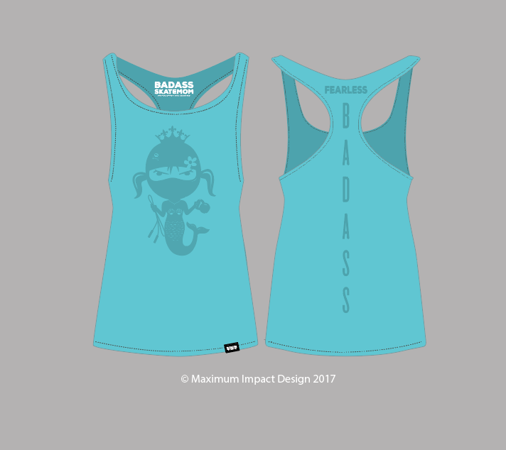 Image of Mermaid Tahiti Blue Women's Tri-Blend Racerback Tank