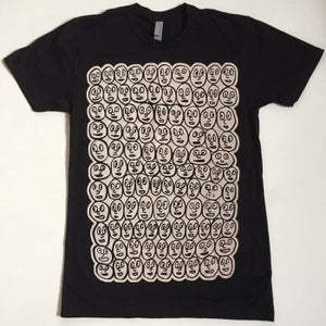 Image of Faces t-shirt (black tee)