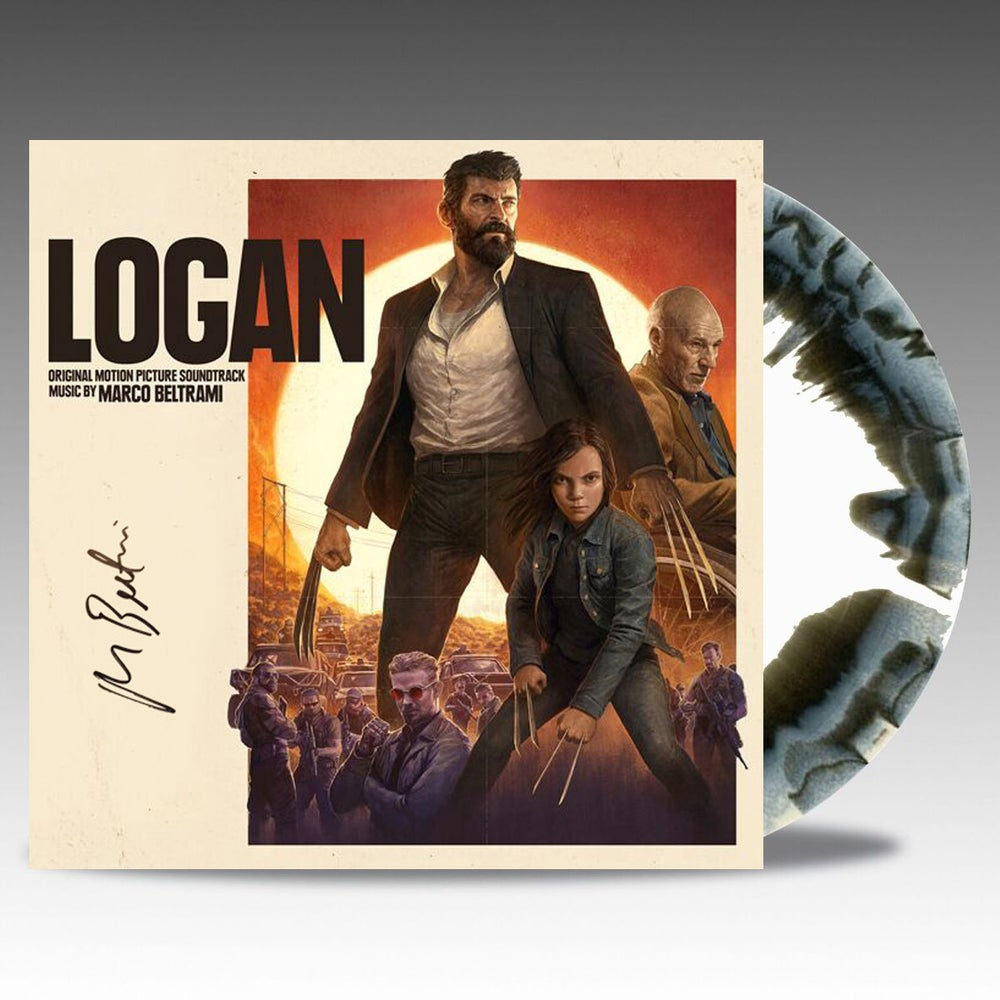 Image of Logan - Signed Web-Shop Exclusive 'Noir Black/Bone' Vinyl - Marco Beltrami