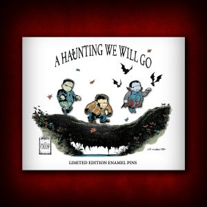 "Image of The Skelton Crew Collection: Limited Edition ""A Haunting We Will Go"" Enamel Pin Set!"