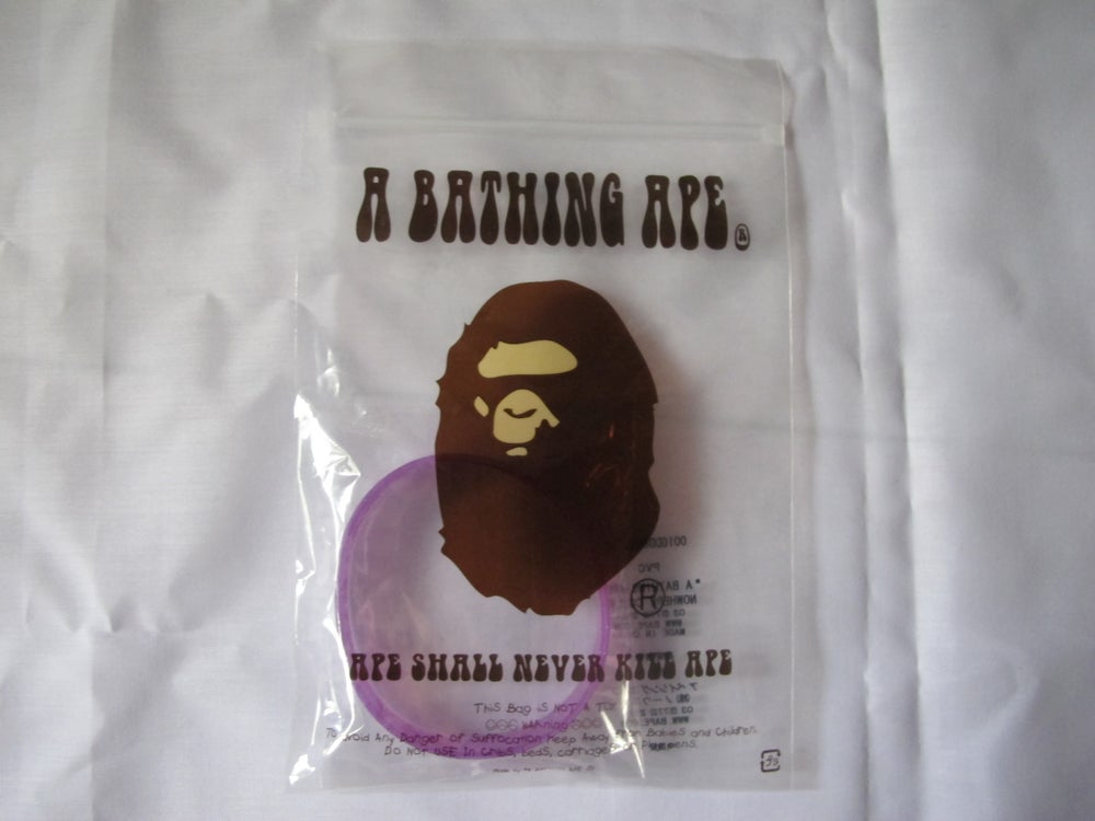 Image of A Bathing Ape - Rubber Bracelet (Purple)