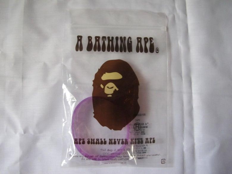 Image of A Bathing Ape - Rubber Bracelet (Purple)