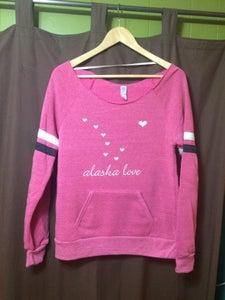 Image of Alaska Love Slouchy Sweatshirt- Berry
