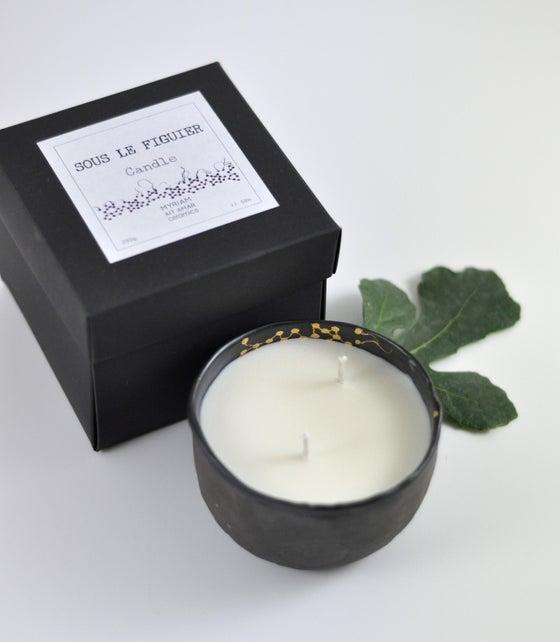 """Image of Bougie Parfumée Moon noir S """"Sous le Figuier"""""""