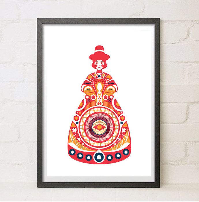 Image of Welsh Lady Print