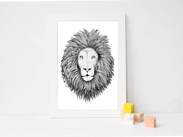 Image of Affiche Lion A4 / Lion A4 poster