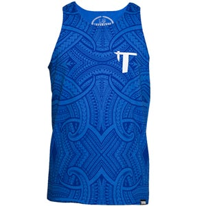 Image of Tatau All Over Royal Blue Tank
