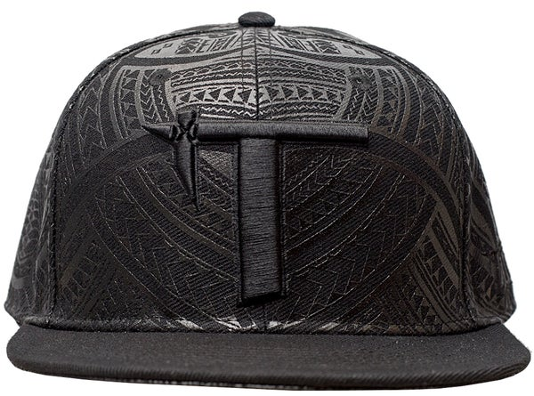 Image of Tatau All Black Abstract Snap Back