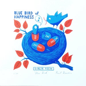 Image of Blue Bird of Happiness