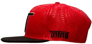 Image of Tatau Abstract Red/Black Snap Back