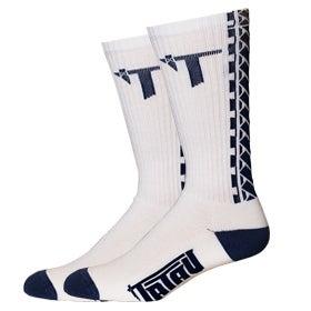 Image of Tatau TS-01 White/Navy Socks