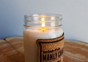 Image of Manly Candle - Clean Shirt Scented Natural Soy Man Candle Hand Poured with Cotton Wick