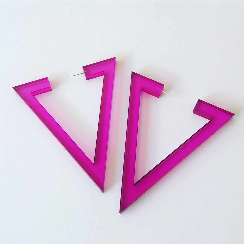 Image of Arki Lucite Earrings Pink