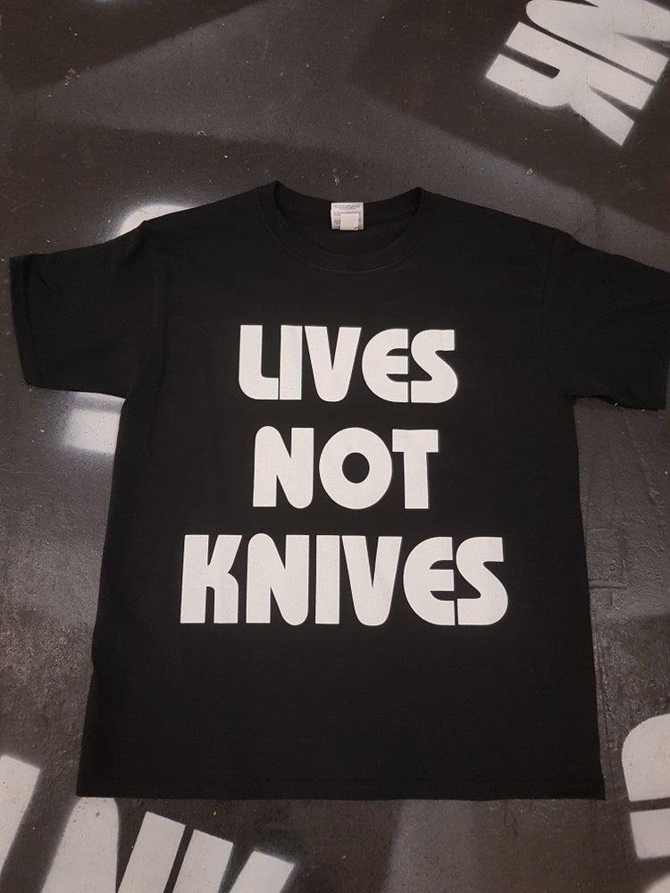 Image of Lives Not Knives - Black/ White
