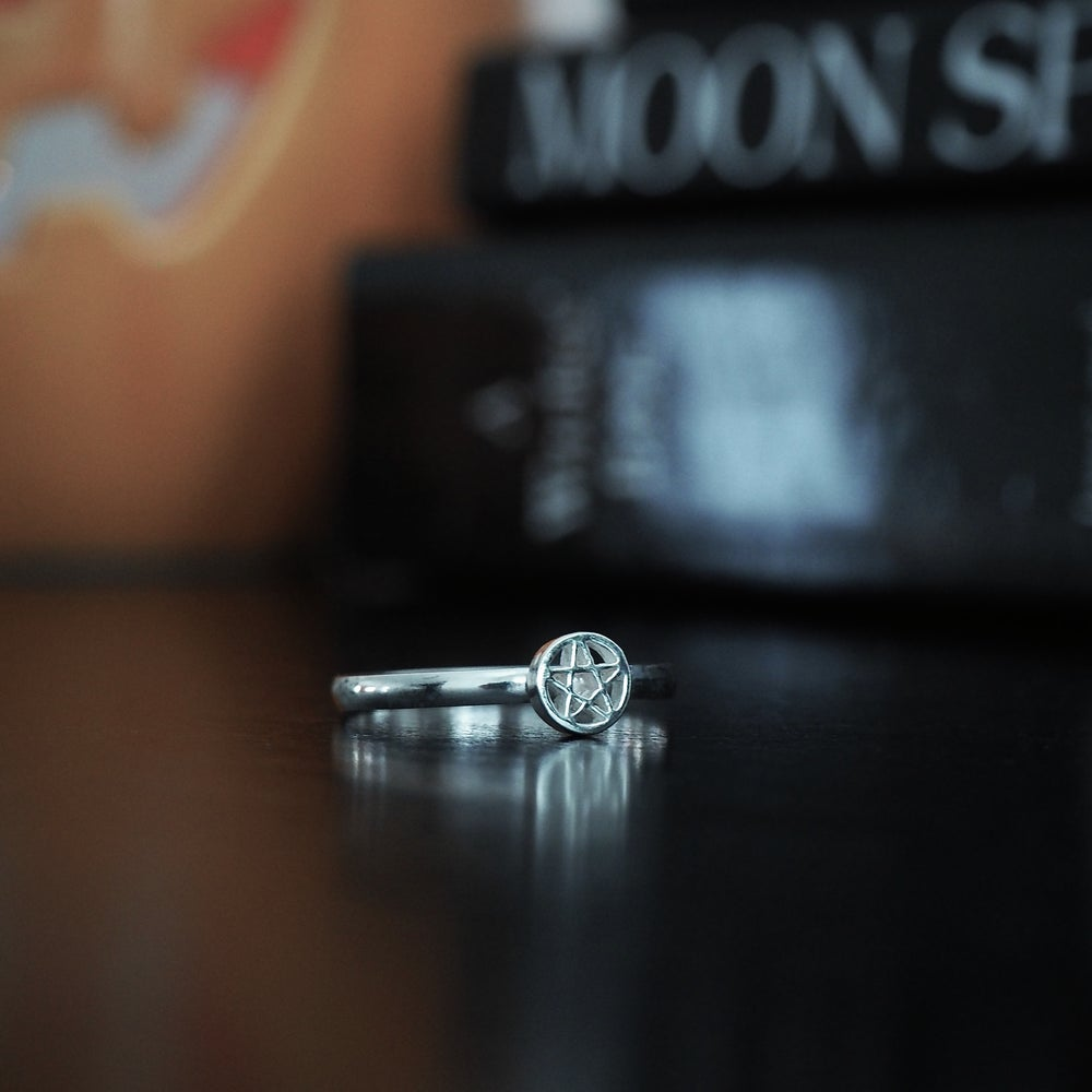Image of Sterling Silver Pentacle Ring.