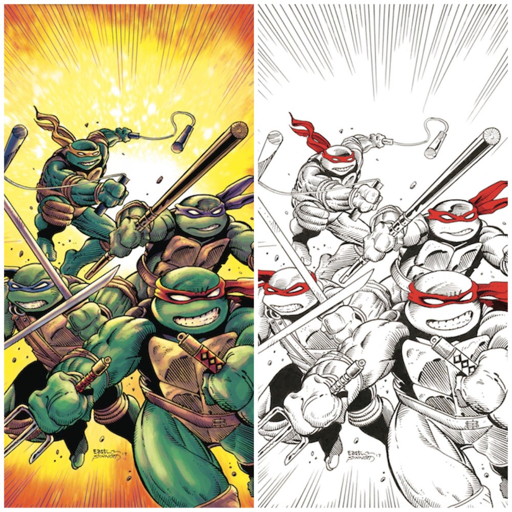 Image of Teenage Mutant Ninja Turtles #75 Eastman/Sinnott Exclusive Color & B/W Virgin Variant SET