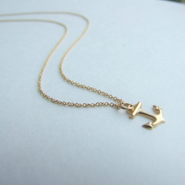 Image of Anchors Aweigh - TIny Gold Anchor