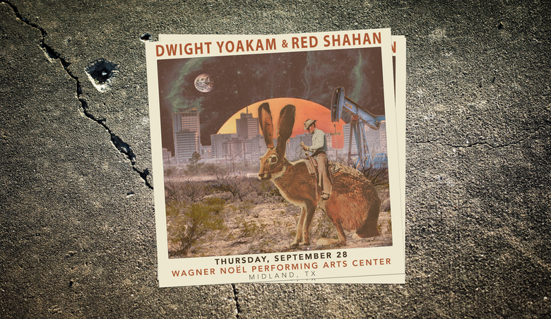 "Image of Red Shahan + Dwight Yoakam 10x10"" Poster"