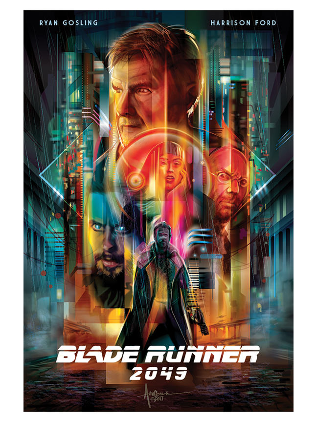 """Image of BLADE RUNNER 2049 - 18""""x24""""- edition of 50 - 2017"""