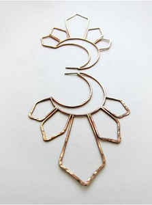 Image of Large Gold Moonbeam Earrings