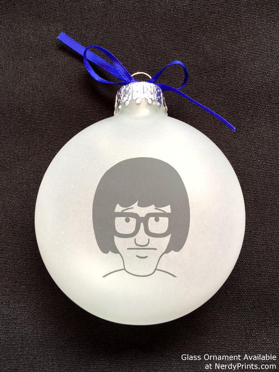 Image of Tina Glass Christmas Ornament