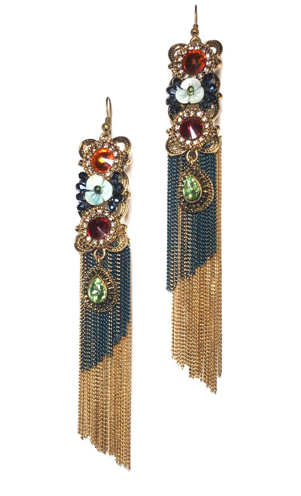 Image of Multi Stone Earrings
