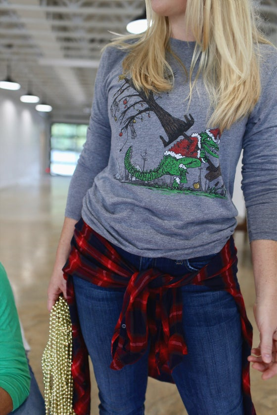 Image of Adult How the Gator Stole Christmas Long Sleeve
