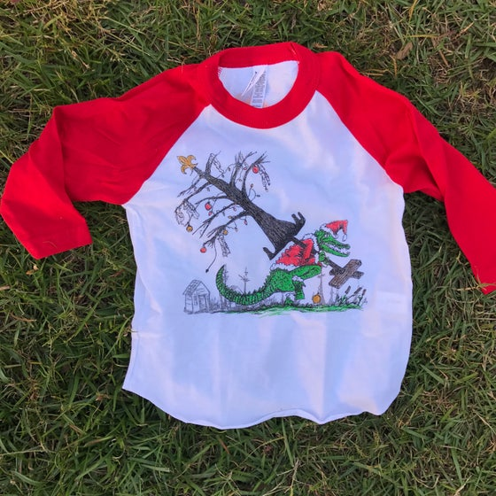 Image of Youth How the Gator Stole Christmas 3/4 Length Raglan