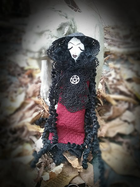Image of The Victorian Goth Vamp~ Hag Poppet Spirit Doll