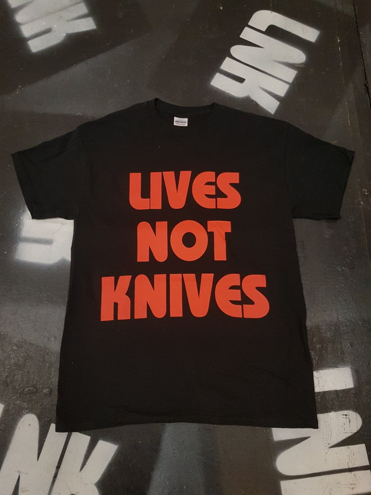 Image of Lives Not Knives - Black/Red