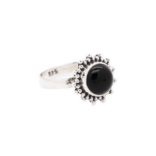 Image of Sterling Silver & Black Onyx Equinox Ring