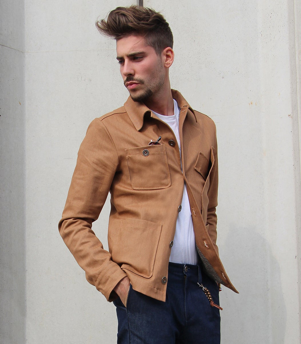 Image of WORK JACKET BROWN DENIM R82M