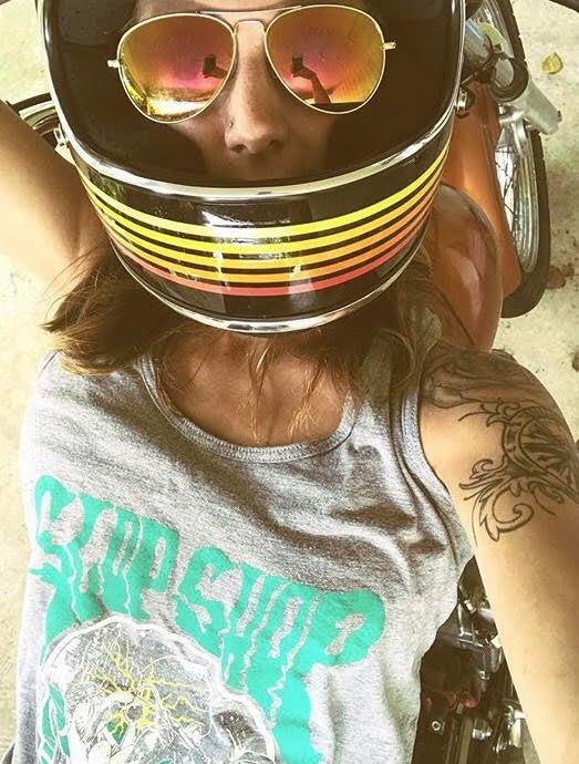 Image of ladies racer back  wheelie