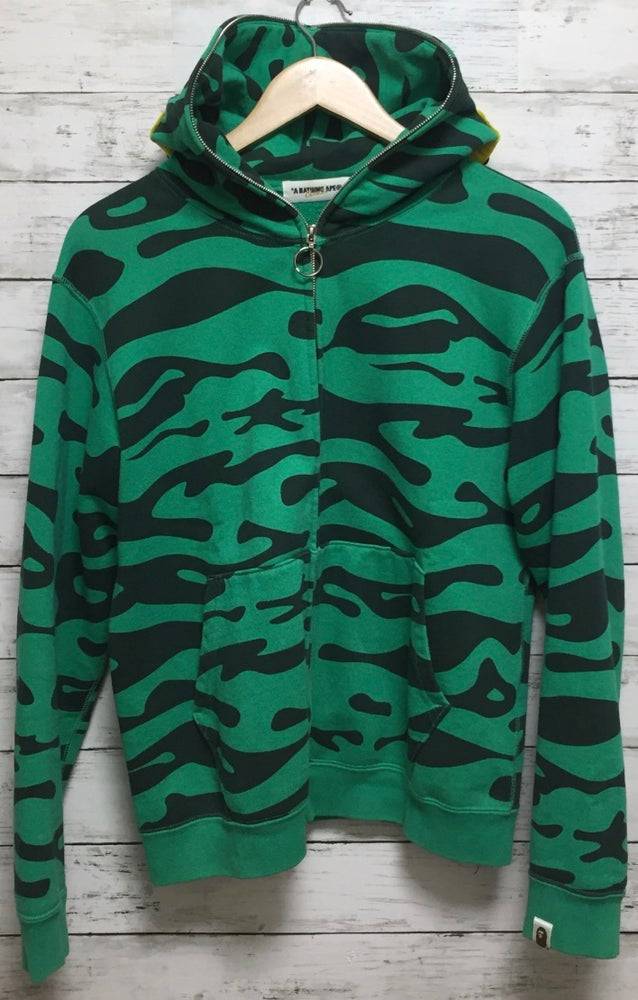 Image of Bape Fish Eye Full Zip Tiger camo hoodie (G)