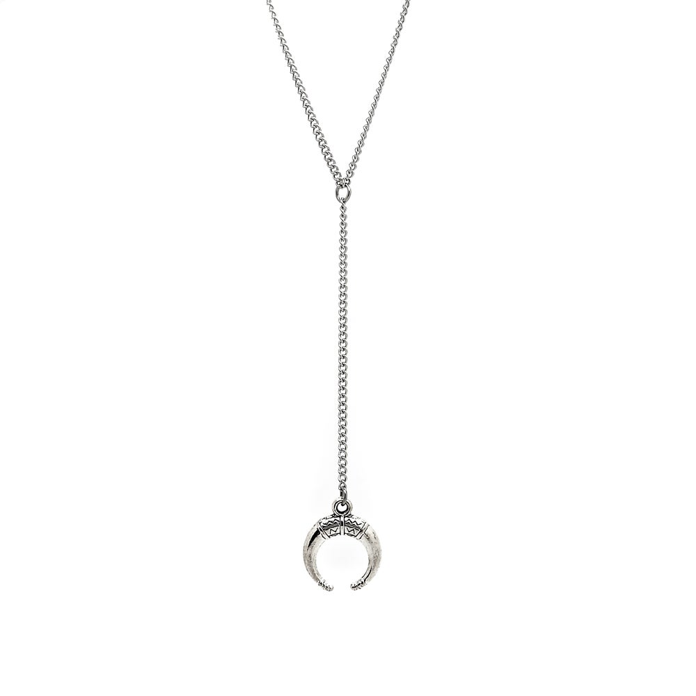 Image of Boho Moon Lariat Necklace