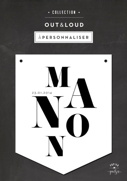 Image of BANNIÈRE PRÉNOM À PERSONNALISER